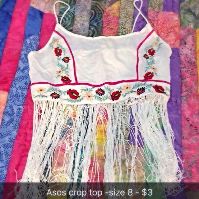 Asos Festival Crop Top