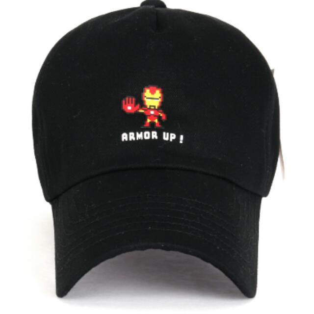 Authentic Black Marvel Iron Man Baseball Cap