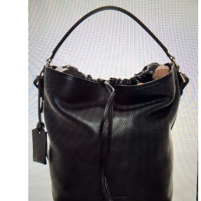 Burberry Brit Pebbled Nova Bucket Drawstring Shoulder Bag (Preloved)