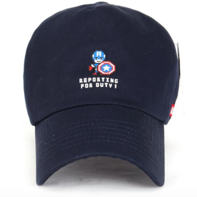 Authentic Navy Marvel Captain America Baseball Cap