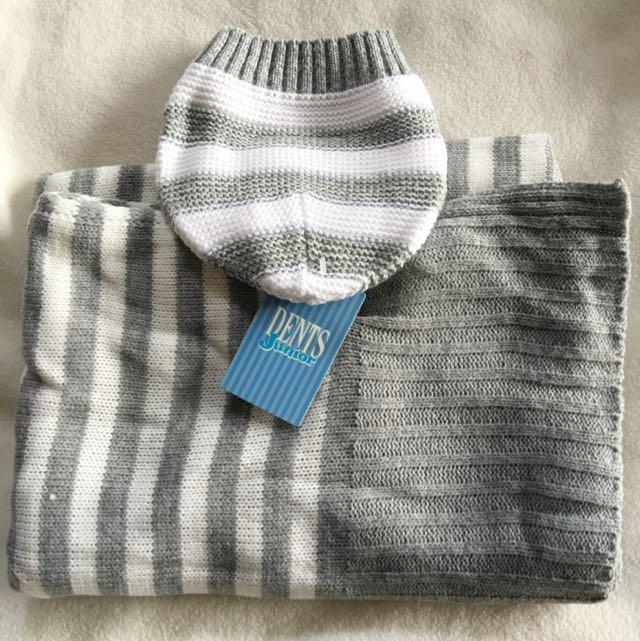 Baby Beanie& Blanket Knit Matching Set