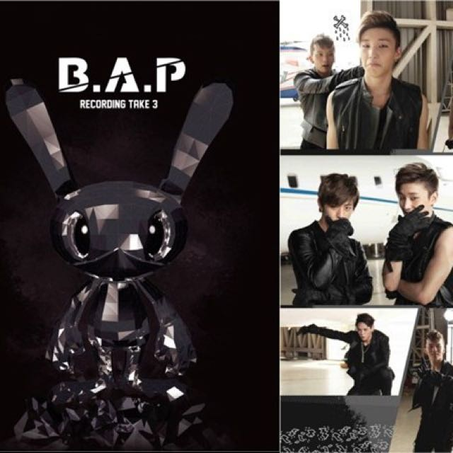 B.A.P BAP出道500日紀念寫真集Recording Take 3韓國進口限定版 BAP