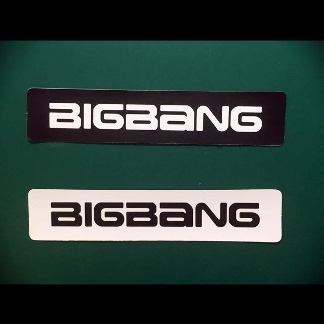 BIGBANG Logo防水貼紙