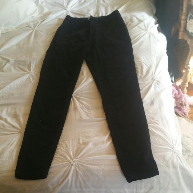 Black High Waisted Skinny Leg Jeans