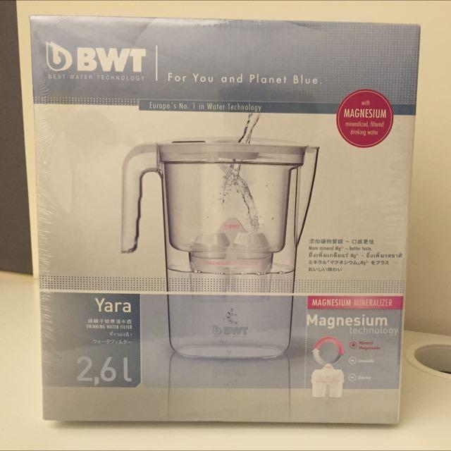 (保留中)全新未拆BWT Yara 2.6L 鎂離子健康濾水壺