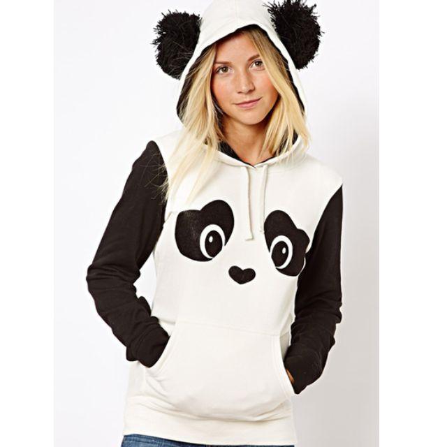 Cute Panda Hoodie with Ear