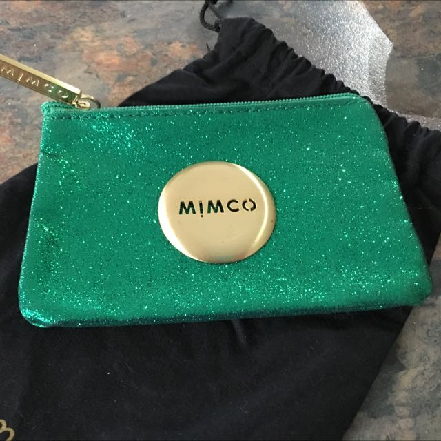 Emerald Green Small Mimco Pouch