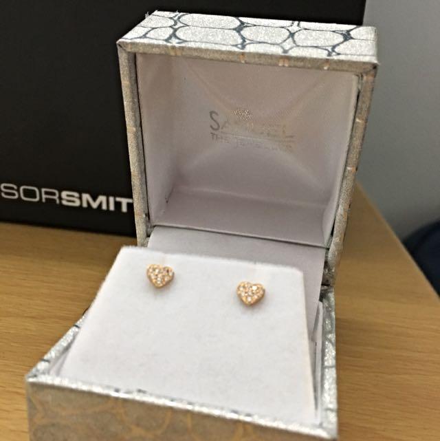 Little Girl Heart Earrings