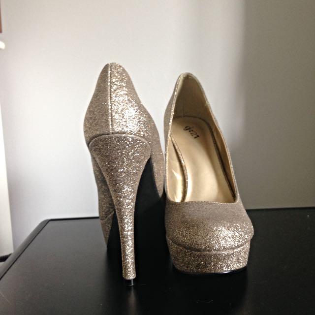 Gold Sparkly Heels