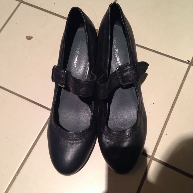 Hush Puppies Black Heeled Shoes
