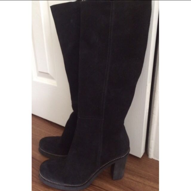 La Canadienne Black Tall Boots