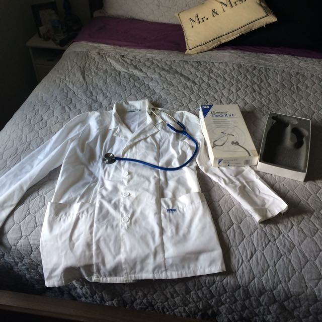 lab coat and Littmann Stethoscope