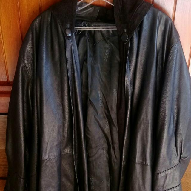 Leather Coat.