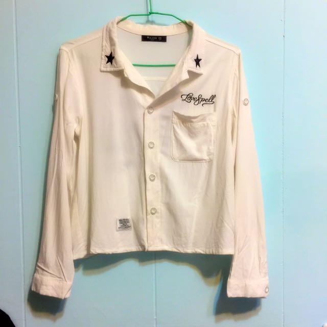 Major 短版白襯衫 小外套