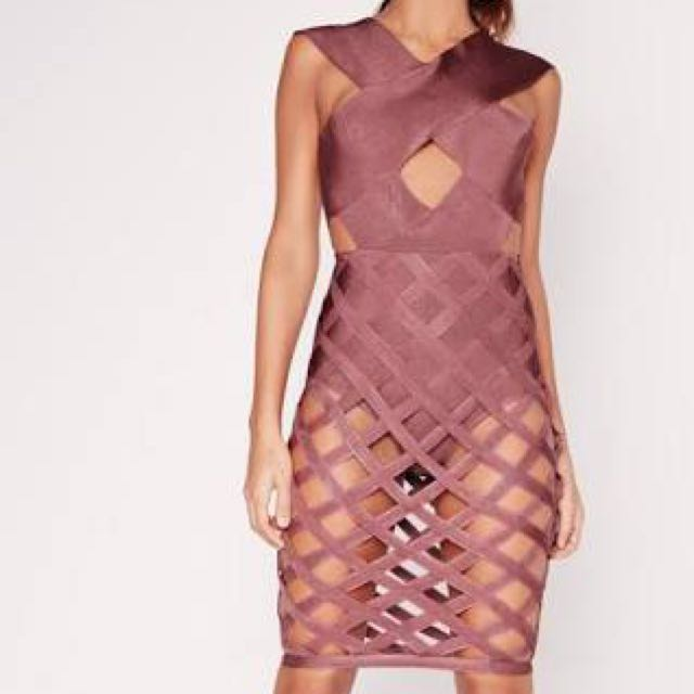 Missguided Cut Out Bandage Dress