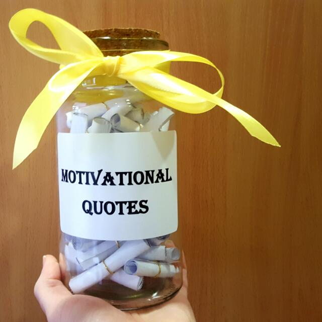 MOTIVATIONAL QUOTES IN A JAR