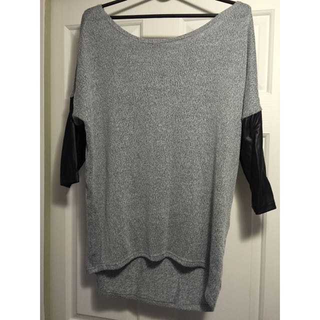 Oversize Grey Top