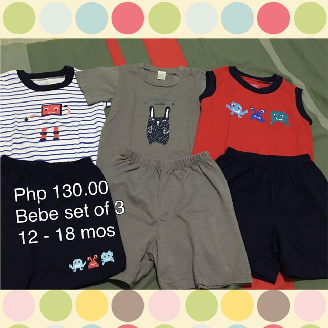 Reserved Php 130 Set Of 3 Shirt & Shorts