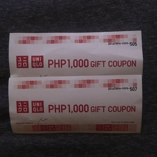 Php 2,000 Worth Uniqlo GC with FREE Delivery
