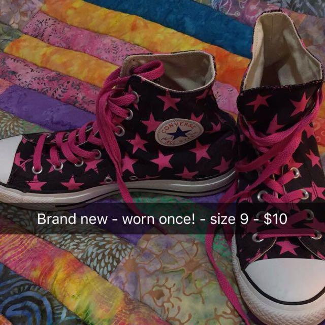 Pink Star Converse