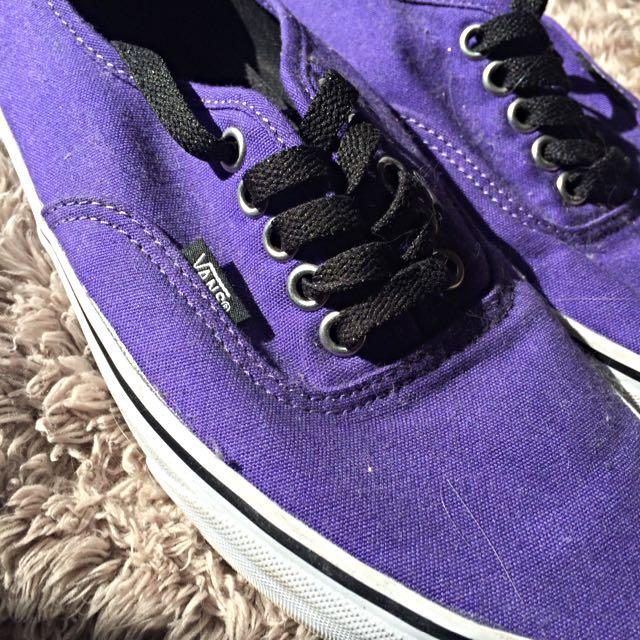 Purple Vans Men: 7.5 Women: 9
