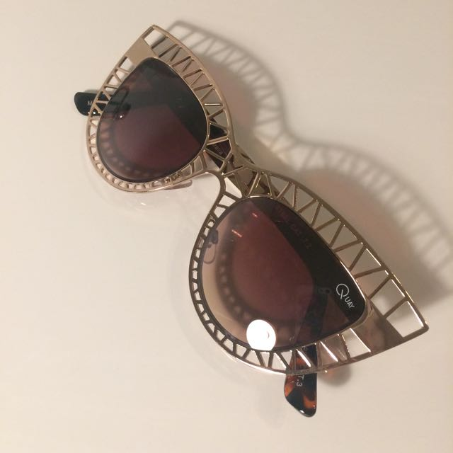 Quay Gold Frame Sunglasses
