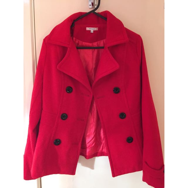 Red Coat - Perfect Condition! Size 8
