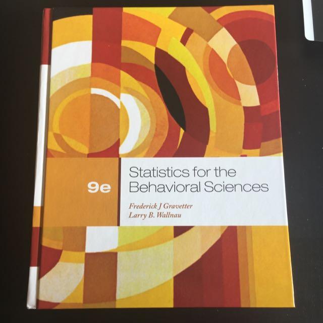statistics for the behavioural sciences
