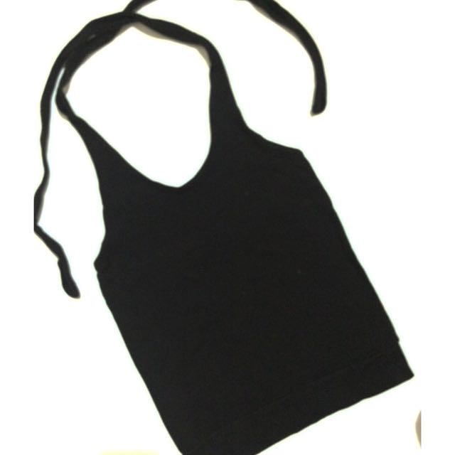 stretchable halter top