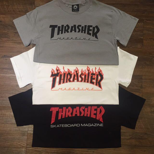 補貨到 THRASHER  火焰T 日線 GD 街頭 滑板 經典