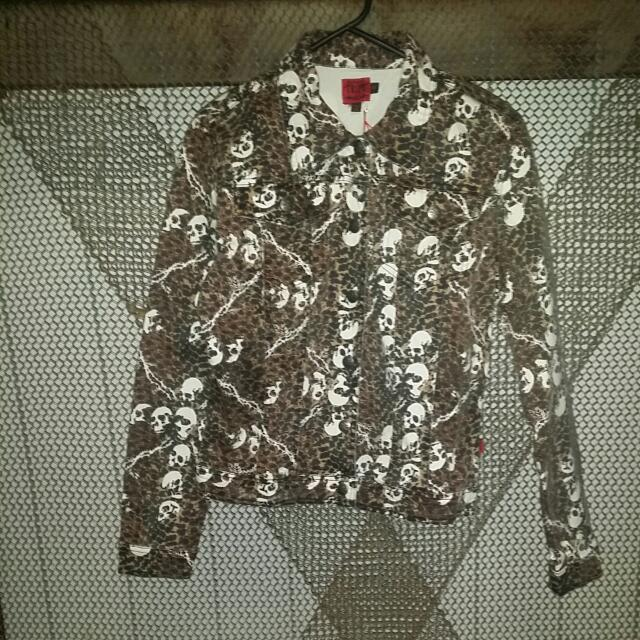 Tripp NYC XL Leopard Denim Jacket NWT