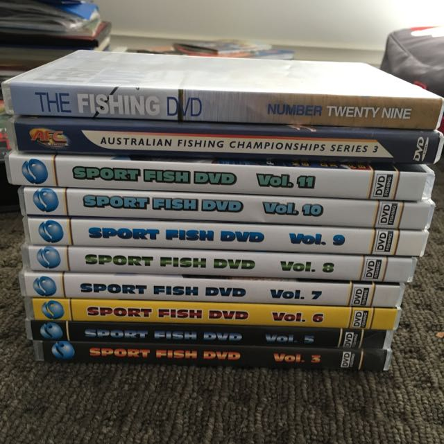 Various Fishing DVDs