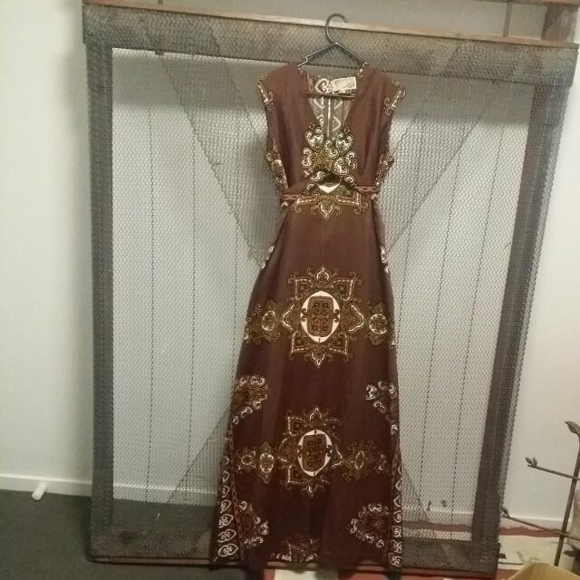 REDUCED Vintage Boho Val Parry - Switzerland Wrap Dress