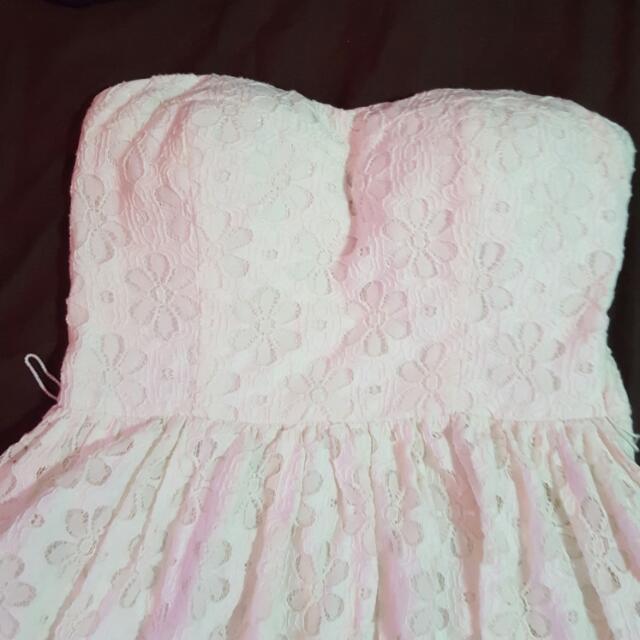 White Strapless Dress 😚