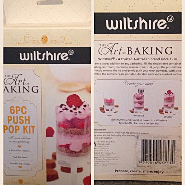 Wiltshire Cake Push Pop Container and Stand