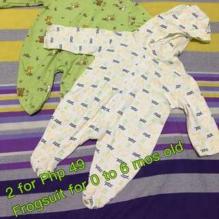 Reserved Newborn Frogsuit Both For 49