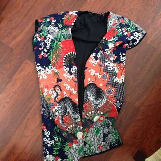 Long Sleeveless Kimono