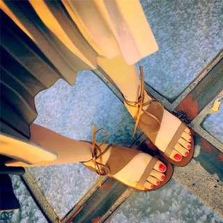 🚚 羅馬鞋 綁帶鞋 編織鞋