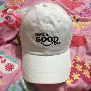韓國製白色老帽