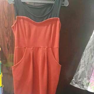 Black N Red Dress