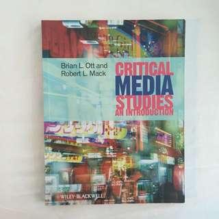 Critical Media Studies : An Introduction