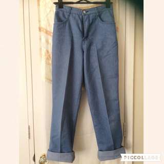 Retro Style Denim Jeans