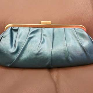 Dinner Clutch Bag In Turquoise Colour