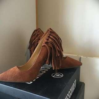 Missguided tassel back court heels