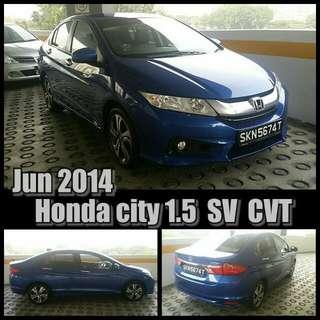 June 2014 Honda City Beautiful Blue. Price Nego
