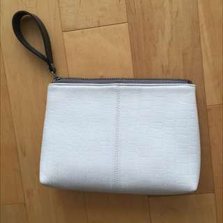 White Topshop Leather Clutch