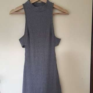 Grey Turtle Neck Dress