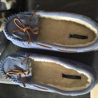 brand new forever 21 suede furry shoes
