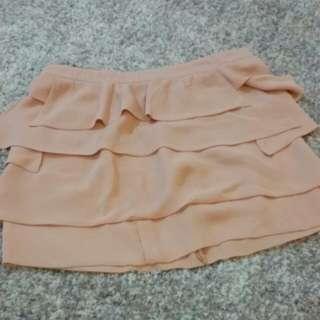 Pink Ruffeled Mini Skirt