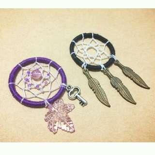 手作補夢網吊飾  紫/黑